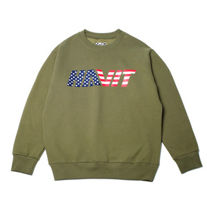 USA SWEAT SHIRT (OLIVE DRAB)